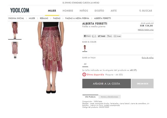 Ferretti skirt