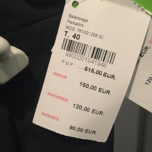 balenciaga pants price