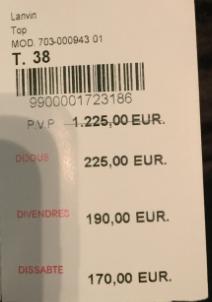 Lanvin top price
